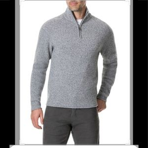 🍫 Rodd&Gunn gray wool sweater new M